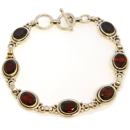 Design 18767: red garnet bracelets