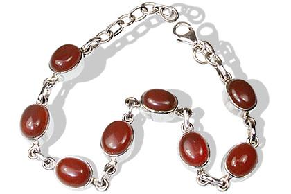 Design 18855: orange carnelian bracelets