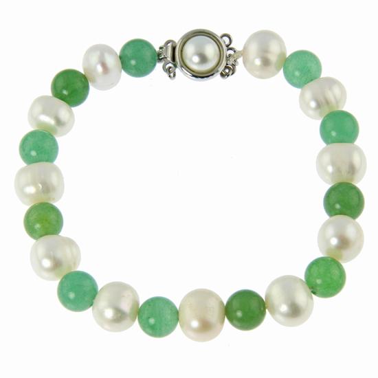 Design 20931: green aventurine bracelets