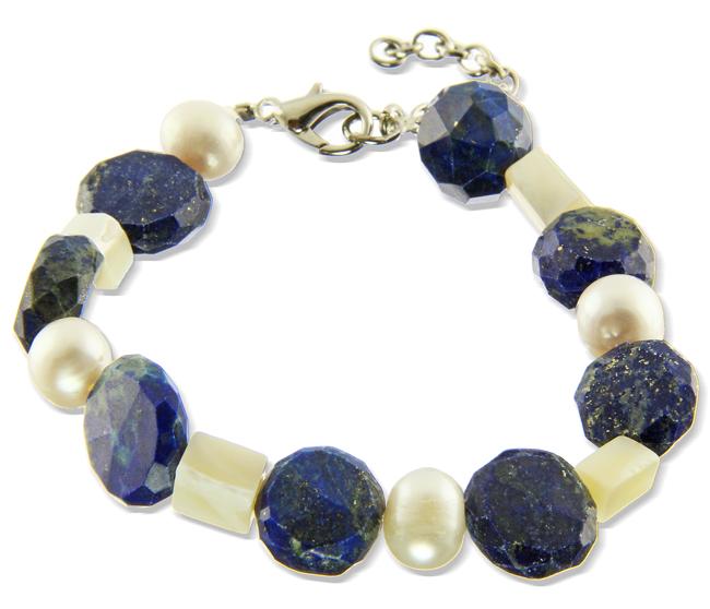 Design 20962: blue lapis lazuli bracelets