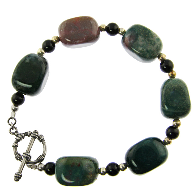 Design 20998: multi-color jasper bracelets