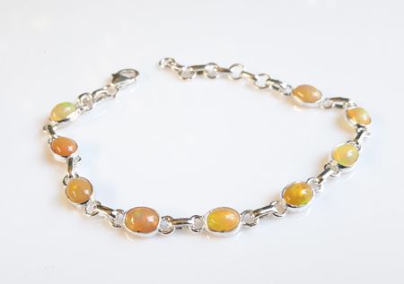 Design 22163: orange,yellow,multi-color opal bracelets