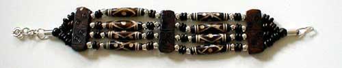 Design 377: Dark Brown bone bracelets