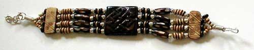 Design 378: brown wood bracelets