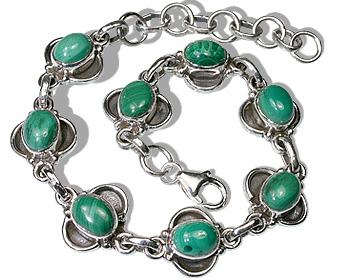 Design 433: green malachite american-southwest bracelets