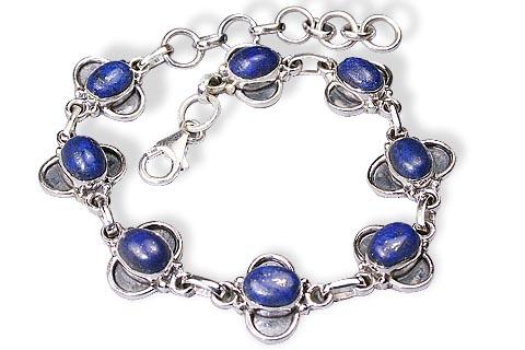 Design 434: blue lapis lazuli bracelets