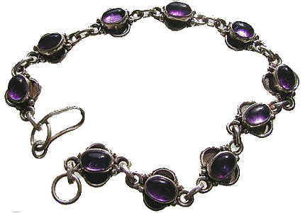 Design 435: purple amethyst bracelets