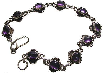 Design 435: purple amethyst bracelets