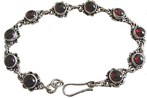 Design 470: red garnet flower bracelets