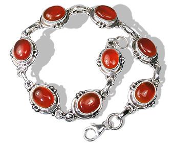 Design 471: orange carnelian bracelets