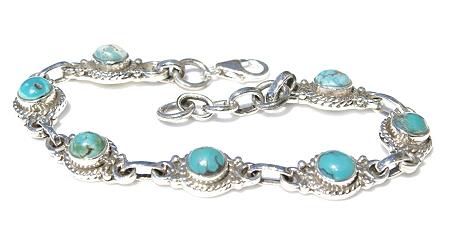 Design 472: blue turquoise american-southwest bracelets