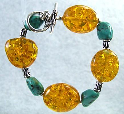 Design 474: blue,orange,multi-color turquoise bracelets