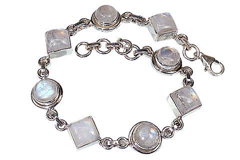 Design 491: white moonstone gothic-medieval bracelets