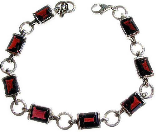 Design 504: red garnet bracelets
