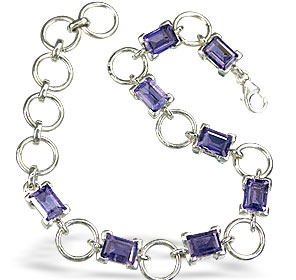 Design 505: blue iolite bracelets