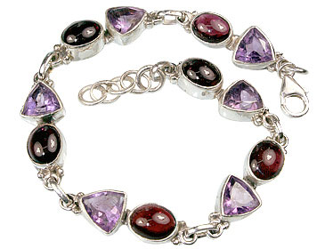 Design 508: purple,red garnet bracelets
