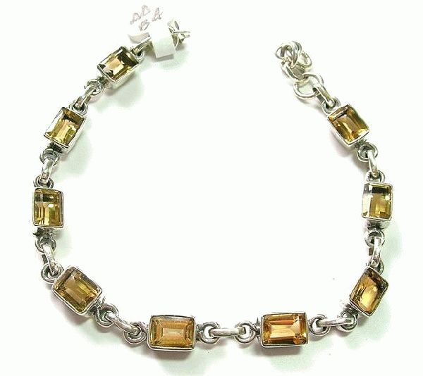 Design 5121: yellow citrine bracelets