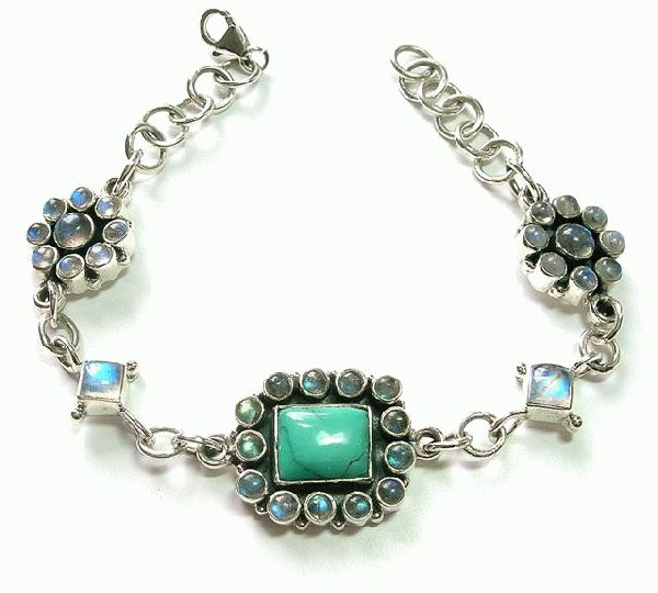 Design 5126: blue,green labradorite bracelets