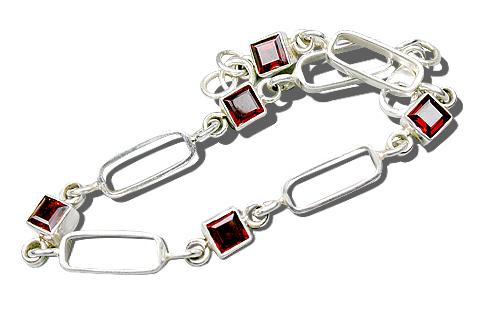 Design 516: red garnet bracelets