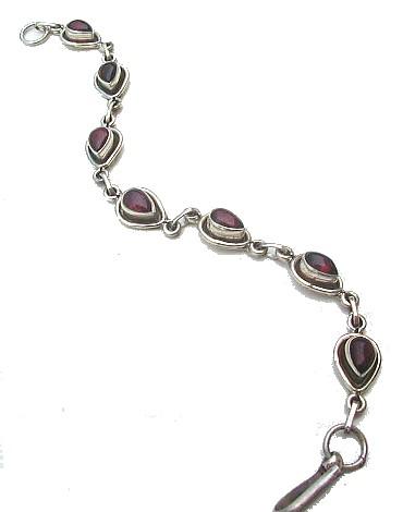Design 524: red garnet drop bracelets