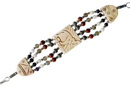 Design 53: multi-color bone ethnic bracelets