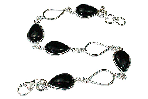 Design 535: black black onyx drop bracelets