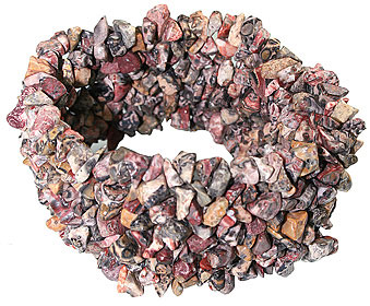 Design 5470: brown,red jasper chipped bracelets