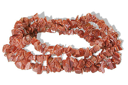 Design 5524: brown goldstone chipped, stretch bracelets
