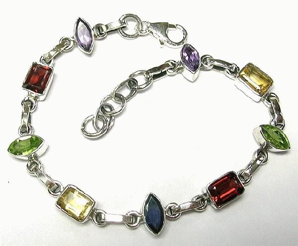 Design 5529: multi-color multi-stone bracelets