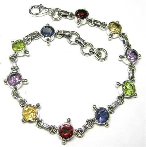Design 5530: multi-color multi-stone bracelets