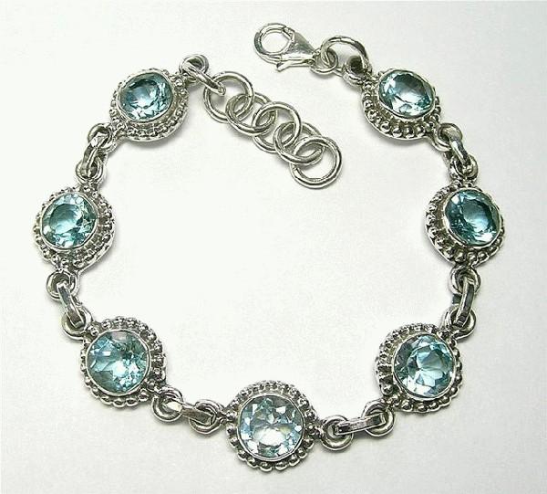 Design 5556: blue blue topaz engagement, wedding bracelets