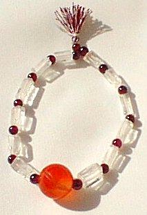 Design 577: red garnet stretch bracelets