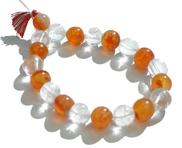 Design 578: orange carnelian stretch bracelets