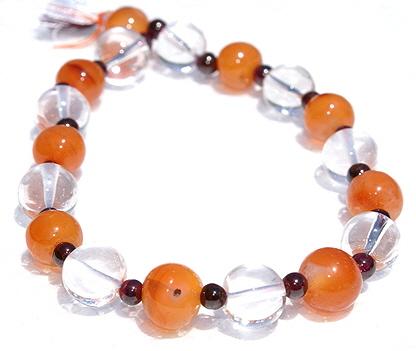 Design 585: orange carnelian stretch bracelets