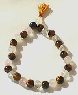 Design 586: brown tiger eye stretch bracelets