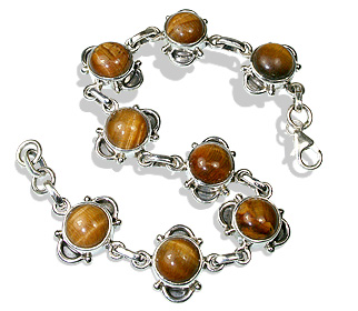 Design 633: brown tiger eye bracelets