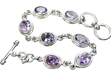 Design 6827: purple amethyst art-deco bracelets