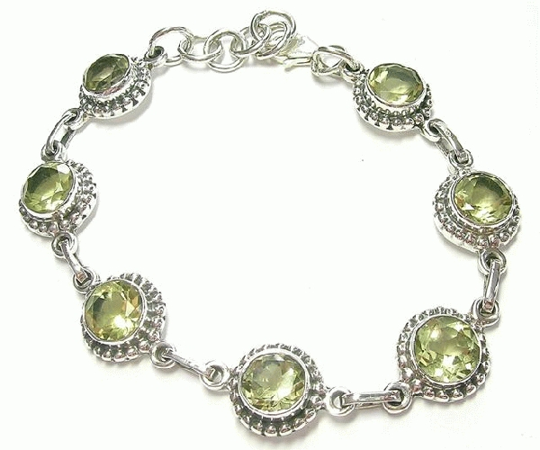 Design 6900: yellow lemon quartz bracelets