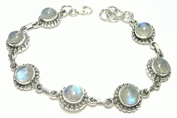 Design 6907: blue moonstone bracelets