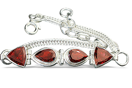 Design 7344: red garnet leaf bracelets