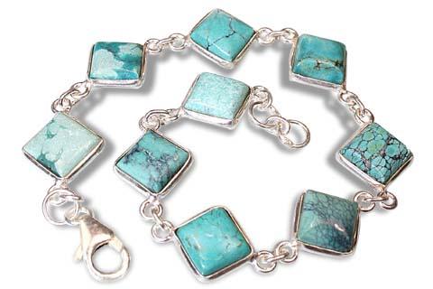 Design 7346: green turquoise american-southwest bracelets