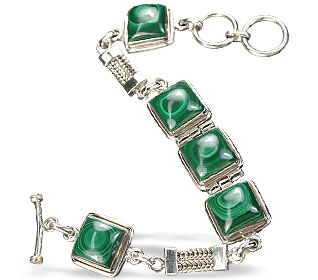 Design 7357: green malachite american-southwest bracelets