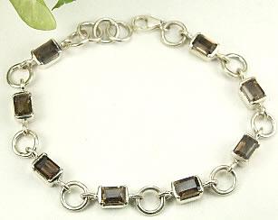 Design 7358: brown smoky quartz bracelets