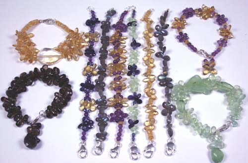 Design 7626: Yellow, Purple, Brown bulk lots bracelets