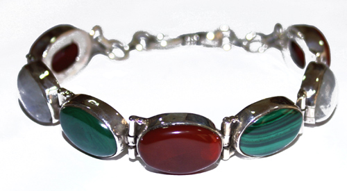 Design 7659: multi-color moonstone bracelets