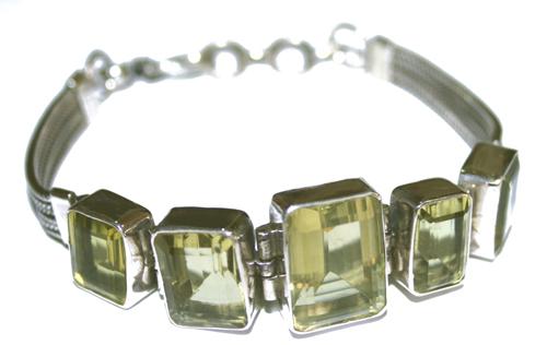 Design 7663: Yellow lemon quartz bracelets