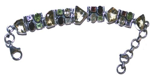 Design 7665: purple,red,yellow citrine bracelets