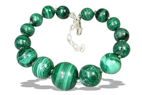 Design 7733: green malachite bracelets