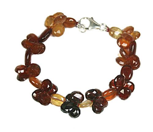 Design 7765: brown,yellow smoky quartz bracelets