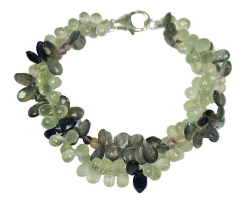 Design 7767: green labradorite drop bracelets